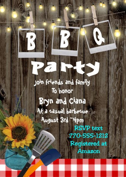Barbecue Party Invitations- BBQ invitations NEW selections