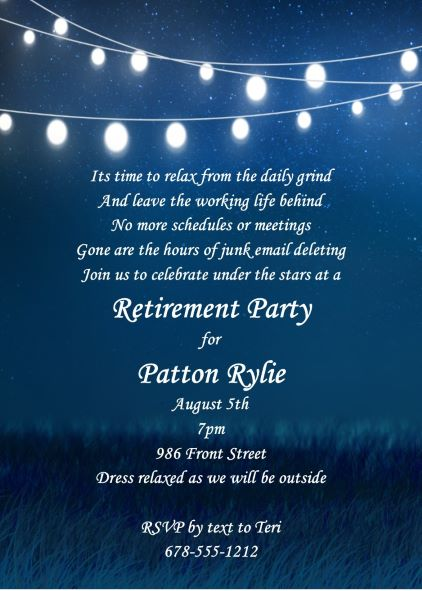 100 Retirement Party Invitations Guests Cant Resist