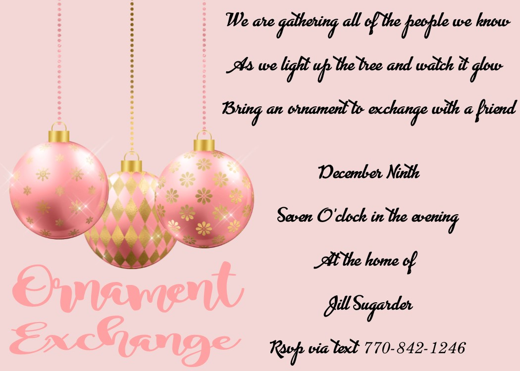 Ornament Gift Exchange Christmas Party Invitations 2020