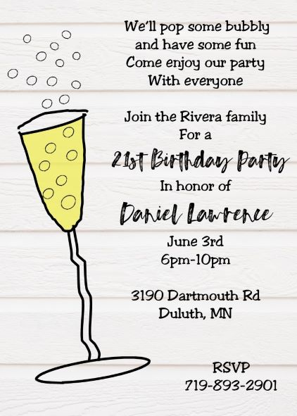 21st Birthday Party Invitations New Selections Summer 2019