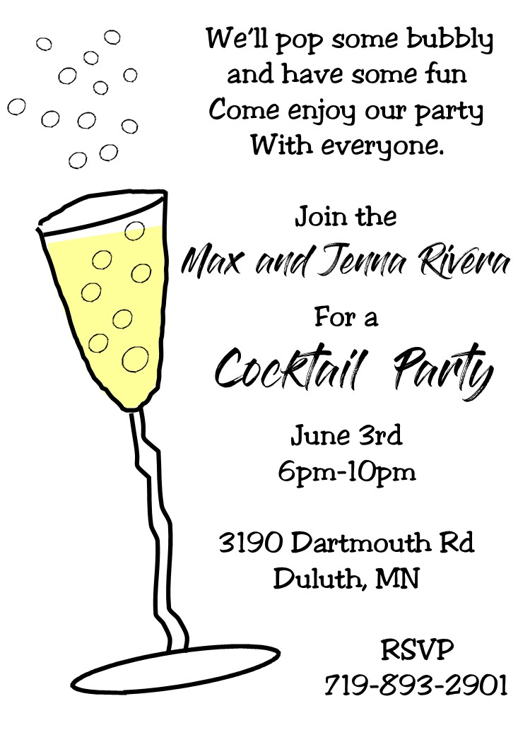 cocktail party invitation unique custom created new selections for summer 2020