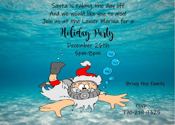 Christmas / Holiday Tropical Party Invitations 2018