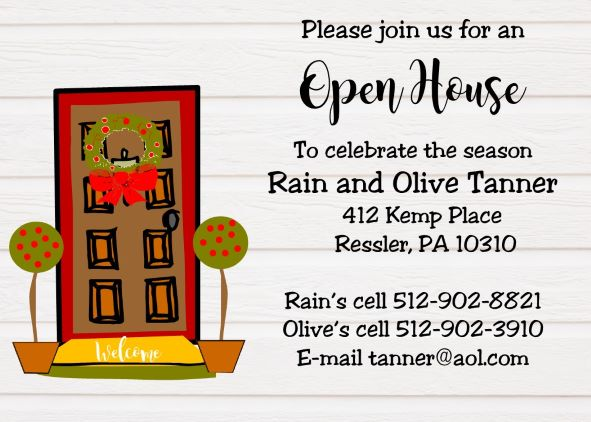image relating to Welcome to Our Open House Printable known as Xmas Open up Residence Occasion Invites / 10,000+ types