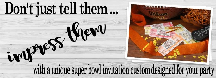 Super Bowl Party Invitations 2020 Football