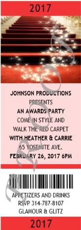 Academy Awards Photo Ticket Invitation