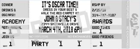 Academy Awards Ticket Invitation