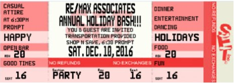 Celebrate The Holidays Ticket