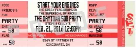 NASCAR Party invitations Daytona 500 2017 – Nascar Birthday Invitations
