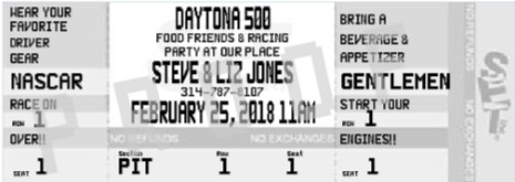 Nascar party invitations daytona 500 2018 nascar birthday party ticket invitation filmwisefo Choice Image