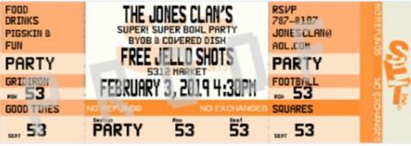 Super Bowl Party Invitations 2018 Football