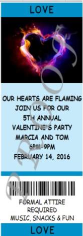 Photo Ticket Invitation