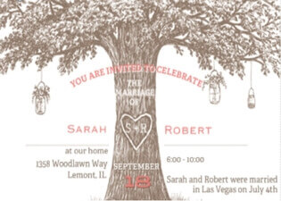 Eloping After The Wedding Party Invitations Las Vegas Title