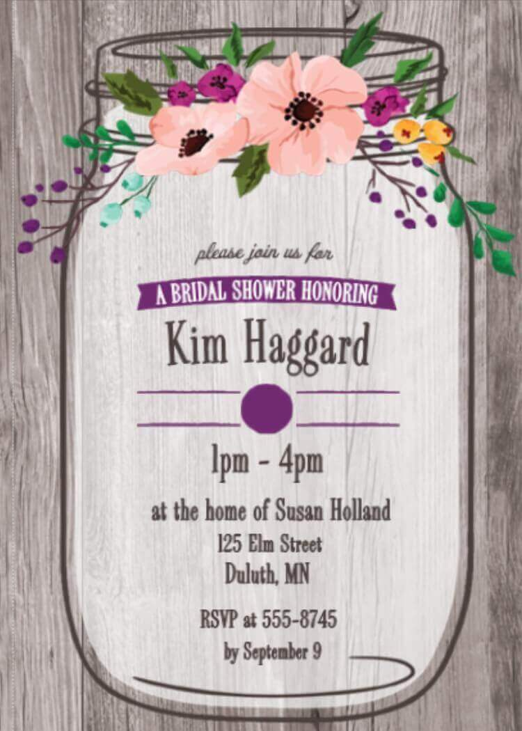 garden bridal shower party invitations