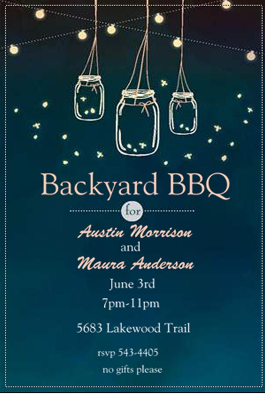 Barbecue Party Invitations- BBQ invitations NEW selections spring 2018