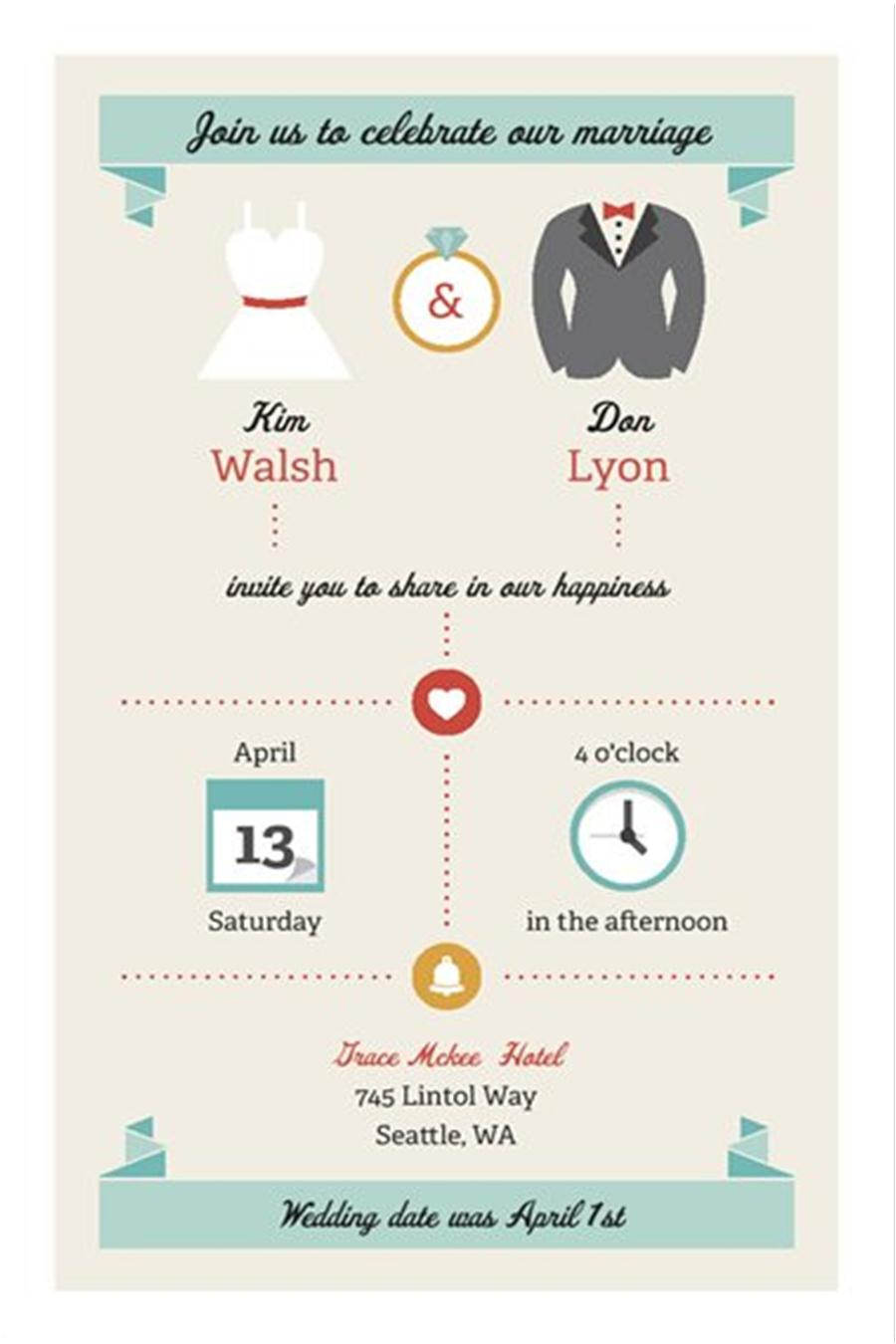 Ideas Informal Wedding Invite after the wedding party invitations or elopement and announcements