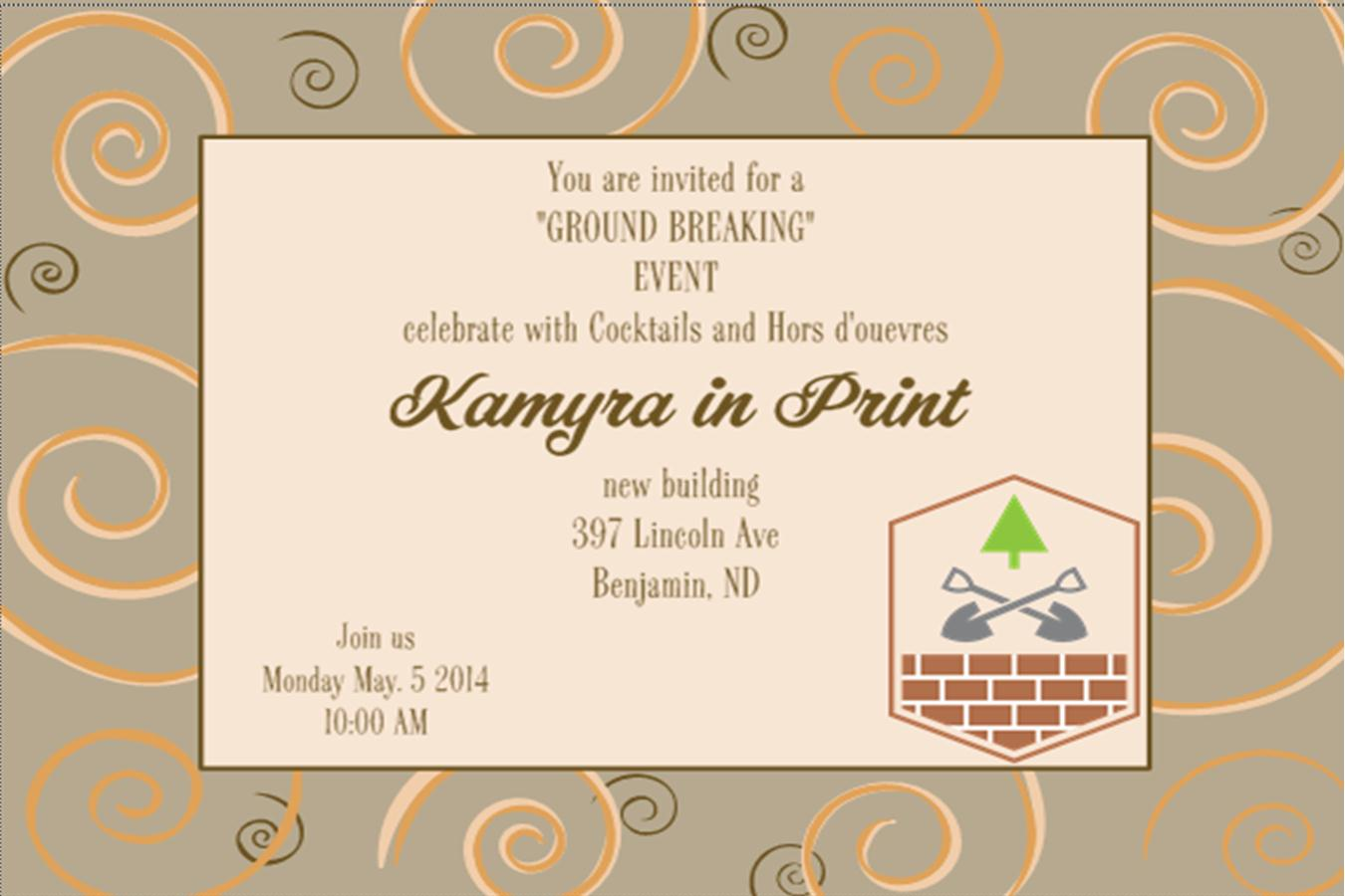 Grand Opening Invitations and Ground Breaking invitations NEW – Grand Opening Party Invitations