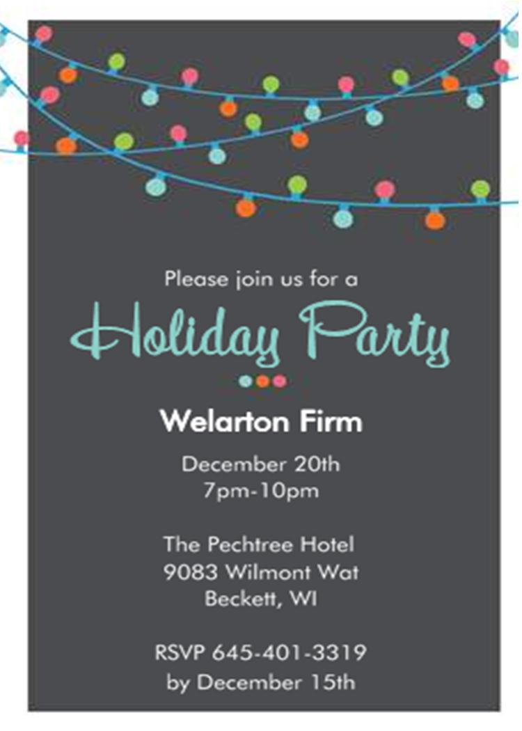 Company Christmas Party Invitations New Selection for 2017 – Office Holiday Party Invites