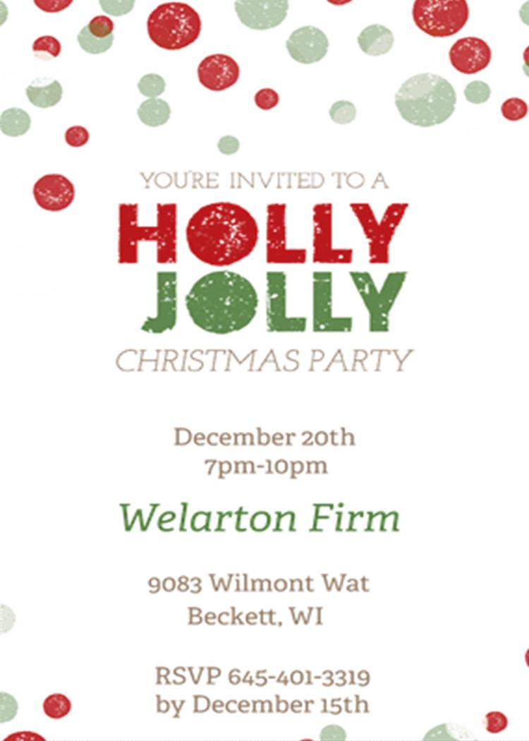 office holiday and christmas party invitations 201 holly jolly christmas office party
