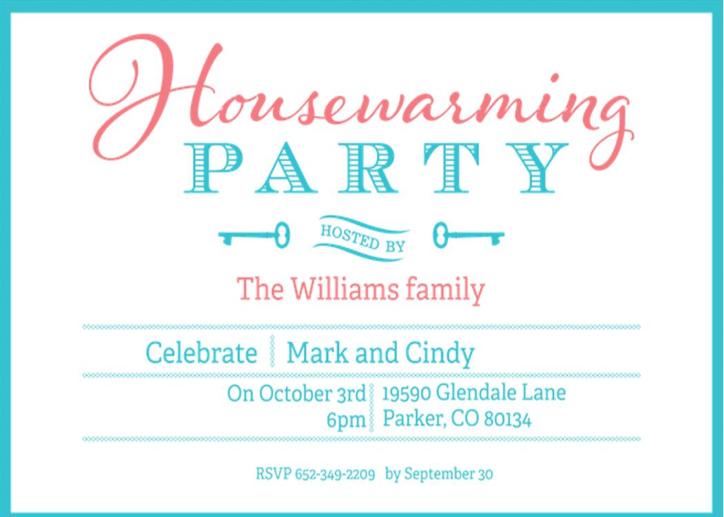 Housewarming Invitations NEW selections Summer 2017